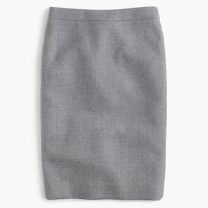 New JCREW No. 2 Pencil Skirt in double-serge Wool